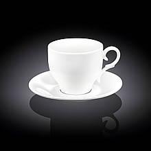Чашка чайная с блюдцем Wilmax  170мл фарфор (993104 WL)