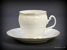 Набір чайний Thun Bernadotte (Обведення золото) на 6 персон 12 предметів 240мл d8 см h8 см фарфор (311011M з)