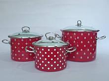 Набір посуду Epos Червона саксонія 6 предметів емаль ( №1500 Червона саксонія)