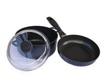 Набір посуду Біол Індіго 3 предмета антипригарне покриття (І24ПС)