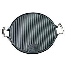 Сковорода для гриля круглая из чугуна 52 х 40 х 2 см черного цвета Rosle R25075