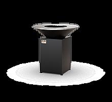 Гриль-мангал для барбекю с чашей и закрытой тумбой в чёрном цвете HOLLA GRILL HGBO-2