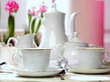 Набор кофейный Cmielow Rococo 3604 на 12 персон 27 предметов фарфор (3604)