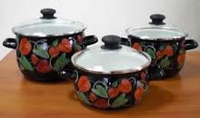 Набір посуду Epos Антуріум 6 предметів емаль (№16 антуріум)