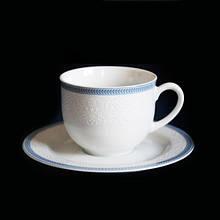 Набор чайный Thun Opal (Обводка голуба) 12 предметов 270мл фарфор (8013601)