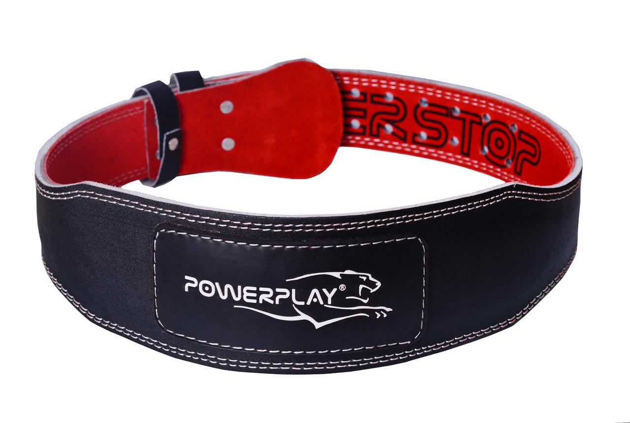 Пояс для важкої атлетики PowerPlay 5085 S Чорно-червоний (PP_5085_S_Black)
