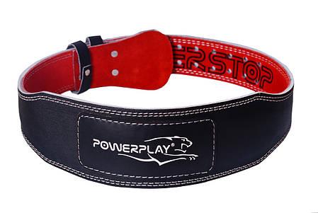 Пояс для важкої атлетики PowerPlay 5085 S Чорно-червоний (PP_5085_S_Black), фото 2