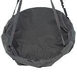 Подвесное кресло гамак для дома и сада 80 х 120 см до 100 кг темно серого цвета, фото 5