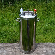 """Автоклав з нержавіючої сталі вогневої побутовий для консервування з термометром і книгою рецептів """"Люкс-28"""""""