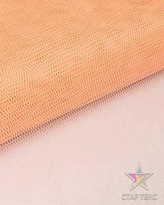 Фатин жесткий персиковый