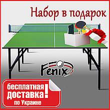 """Тенісний стіл для приміщень """"Фенікс"""" Basic M16 зеленого кольору"""