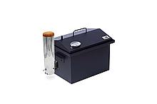 Коптильня з термометром і димогенератором для гарячого копчення пофарбована в чорному кольорі 400 х 300 х 280
