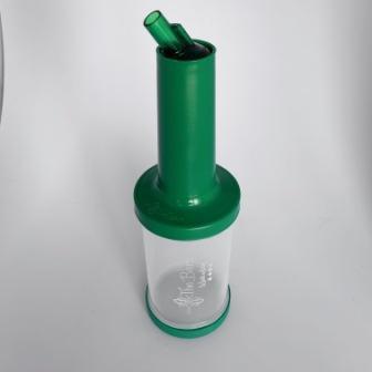 Бутилка с гейзером The Bars  с зеленой крышкой 1л (PM01G)