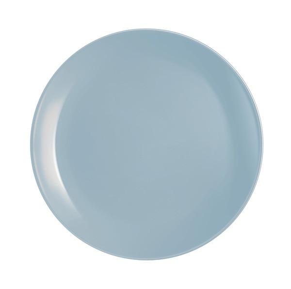 Тарелка обеденная Luminarc Diwali Light Blue круглая без борта d25 см стеклокерамика (2610P)