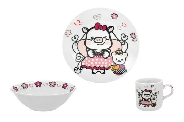 Набір для дітей Limited Edition Sweety 3 предмета фарфор (C535)