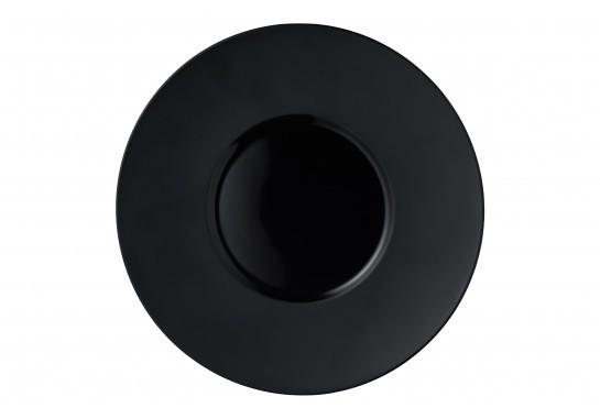 Тарелка ALT Porcelain Delux черная матовая d25,5 см (F2429BY-10L)