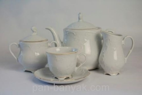 Чайный сервиз Cmielow Rococo 3604 на 12 персон 27 предметов фарфор (3604)