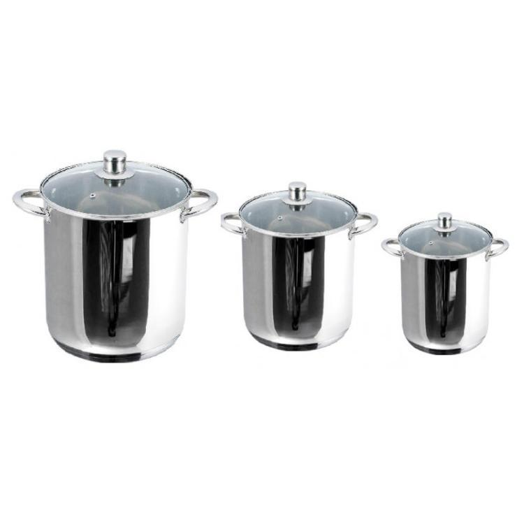 Набор посуды Gusto  6 предметов нержавейка (1104-3 G)