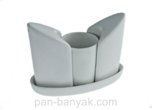 Набор для специй FoREST Fudo (соль/перец/зубочистка) 3 предмета фарфор (750174)