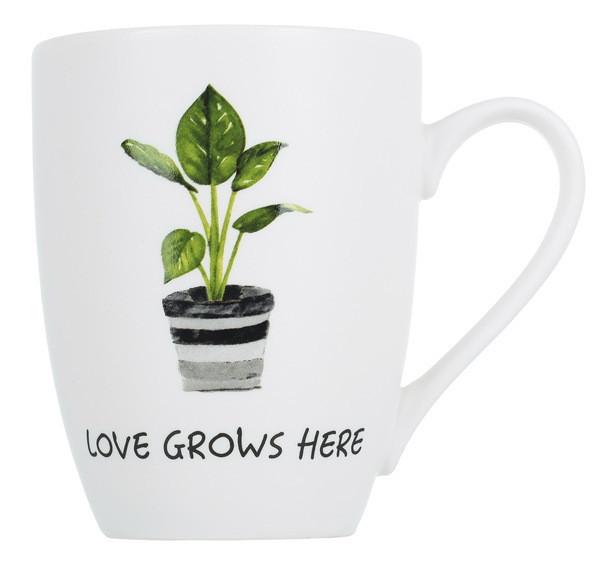 Кружка Limited Edition Plant Love Grows here 340мл фарфор (B09-SU0239/Love Grows gr)