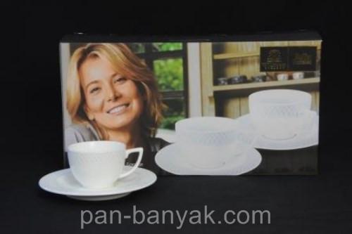Набор кофейный Wilmax Julia Vysotskaya 12 предметов 90мл фарфор (880107JV WL)
