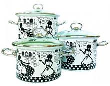 Набір посуду Epos Kitchen 6 предметів емаль (№1500 Kitchen)