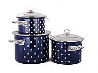 Набір посуду Epos Кобальтова саксонія 6 предметів емаль ( №1500 Кобальтова саксон)