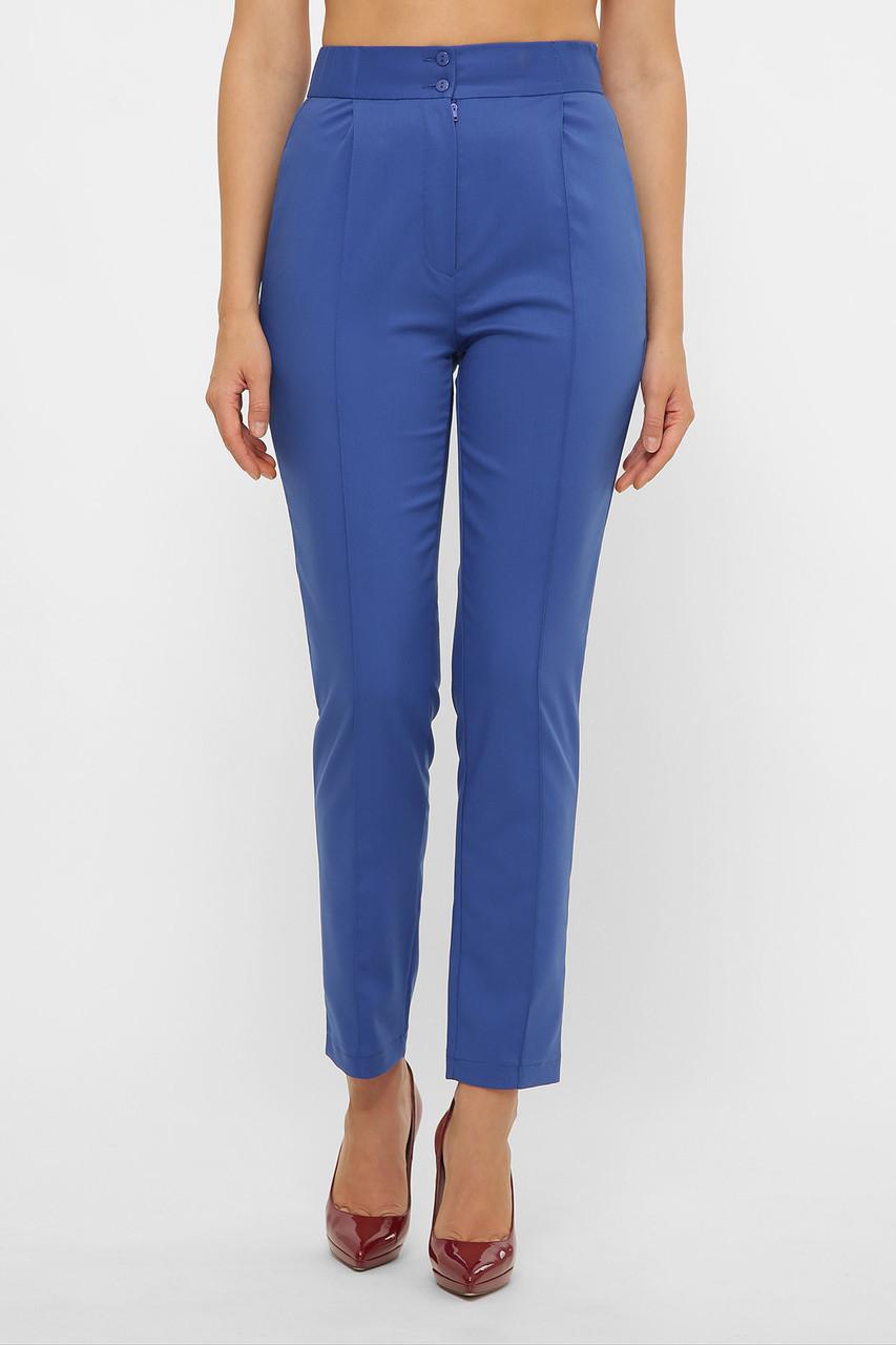 Женские синие брюки костюмные
