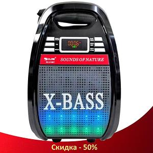 Колонка Golon RX 810 з мікрофоном - портативна Bluetooth колонка з радіо і світломузикою