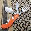 Туристический набор (4 элемента) - ложка, вилка, нож, открывашка M-Tac Large сталь (60012035), фото 4