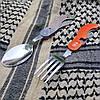 Туристический набор (4 элемента) - ложка, вилка, нож, открывашка M-Tac Large сталь (60012035), фото 6