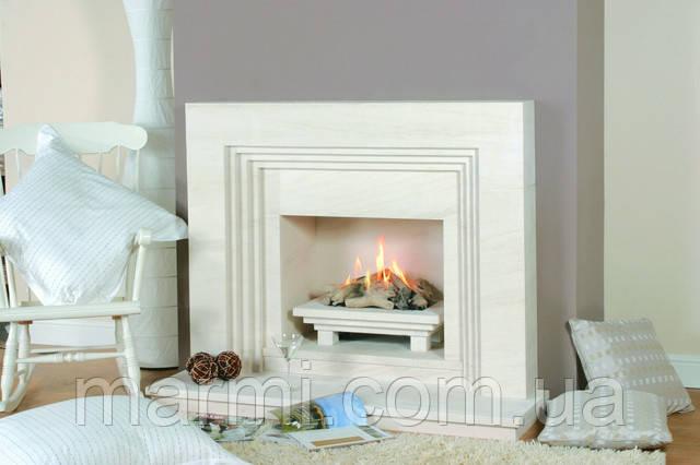 камин белый мрамор