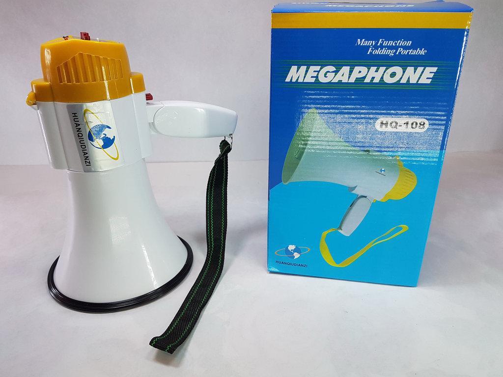 Ручной мегафон рупор HQ-108 дальность 200 м