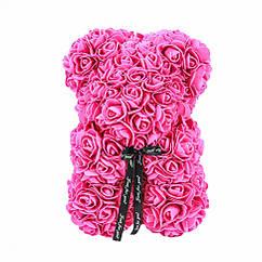 Ведмідь з 3D троянд 25см БЕЗ подарункової упаковки ведмедик з троянд оригінальний
