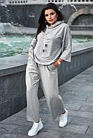 ✔️ Повседневный легкий костюм оверсайз с широкими брюками 40-52 размера разные расцветки