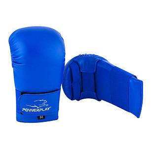 Рукавички для карате PowerPlay 3027 L Сині (PP_3027_L_Blue), фото 2