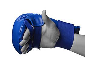 Рукавички для карате PowerPlay 3027 L Сині (PP_3027_L_Blue), фото 3