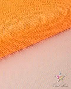 Фатин жесткий ярко-оранжевый