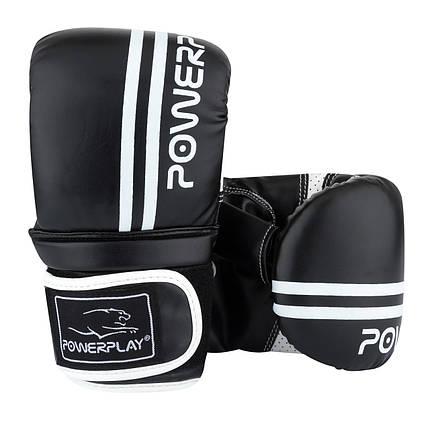 Снарядні рукавички PowerPlay 3025 M Чорно-Білі, фото 2
