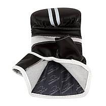 Снарядні рукавички PowerPlay 3025 M Чорно-Білі, фото 3
