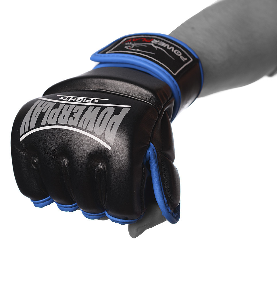 Рукавички для MMA PowerPlay 3058 Чорно-cині XL (PP_3058_XL_Black/Blue)