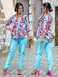 Женский брючный костюм Fashon 48-50, 52-54, 56-58 ,60-62 Батал, фото 3