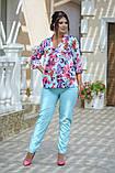 Женский брючный костюм Fashon 48-50, 52-54, 56-58 ,60-62 Батал, фото 9