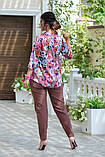 Женский брючный костюм Fashon 48-50, 52-54, 56-58 ,60-62 Батал, фото 10