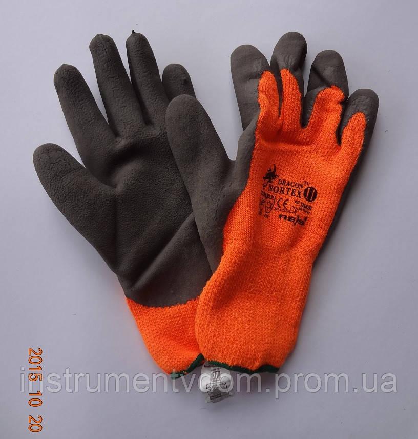 Перчатки рабочие акриловые с латексным покрытием REIS DRAGON NORTEX, Польша (упаковка 12 пар)
