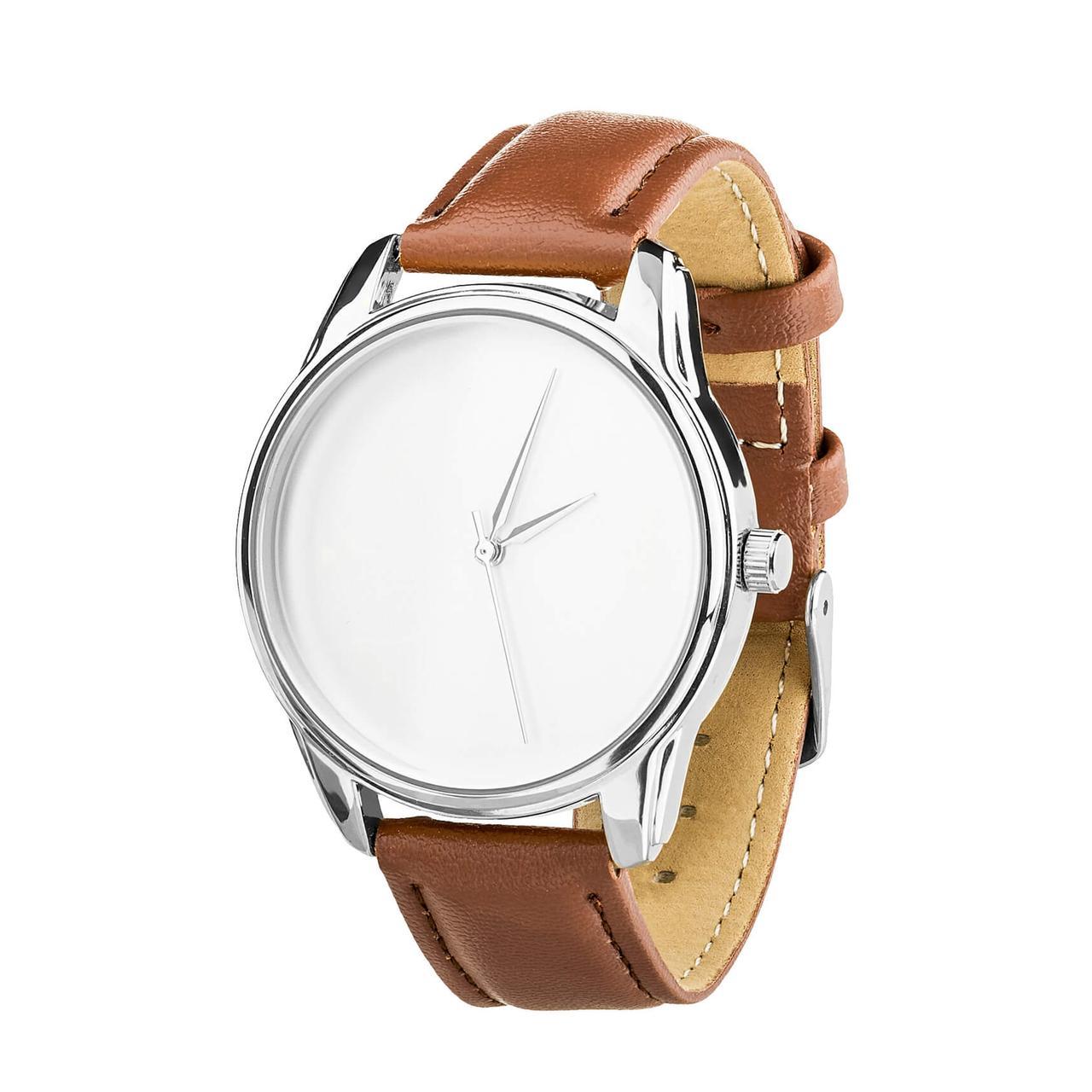 Часы ZIZ Минимализм (ремешок кофейно - шоколадный, серебро) + дополнительный ремешок