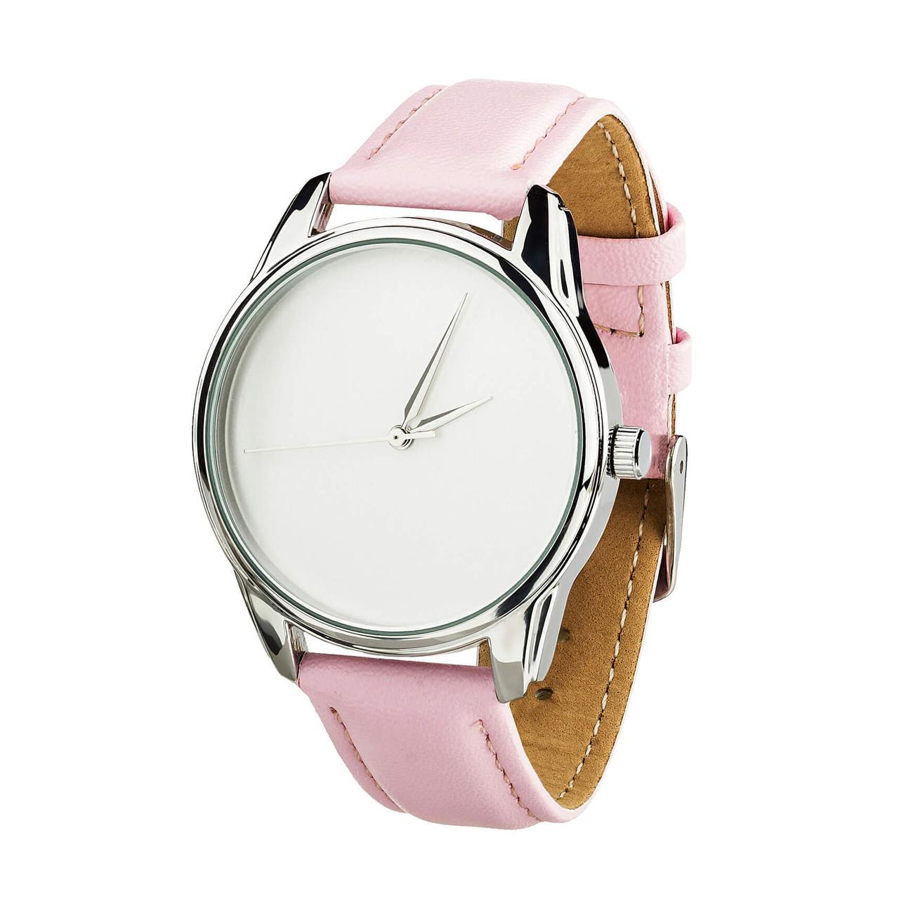 Часы ZIZ Минимализм (ремешок пудрово - розовый, серебро) + дополнительный ремешок