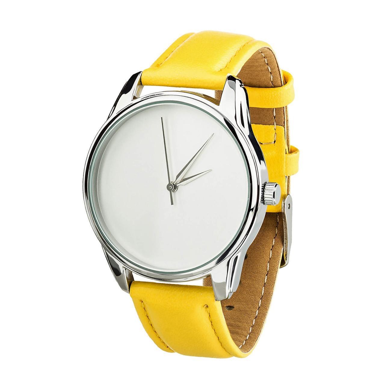 Часы ZIZ Минимализм (ремешок лимонно - желтый, серебро) + дополнительный ремешок