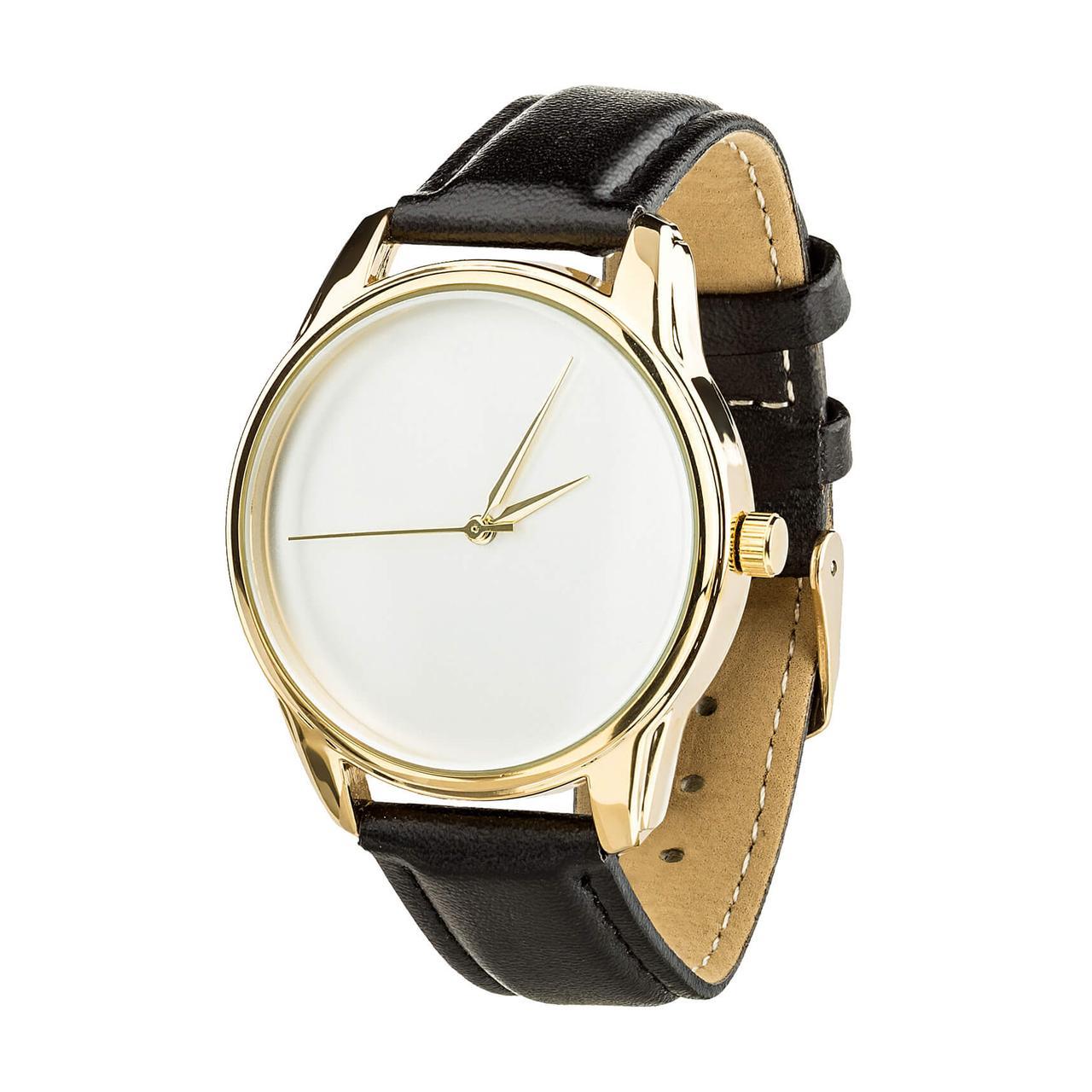 Годинник ZIZ Мінімалізм (ремінець насичено - чорний, золото) + додатковий ремінець
