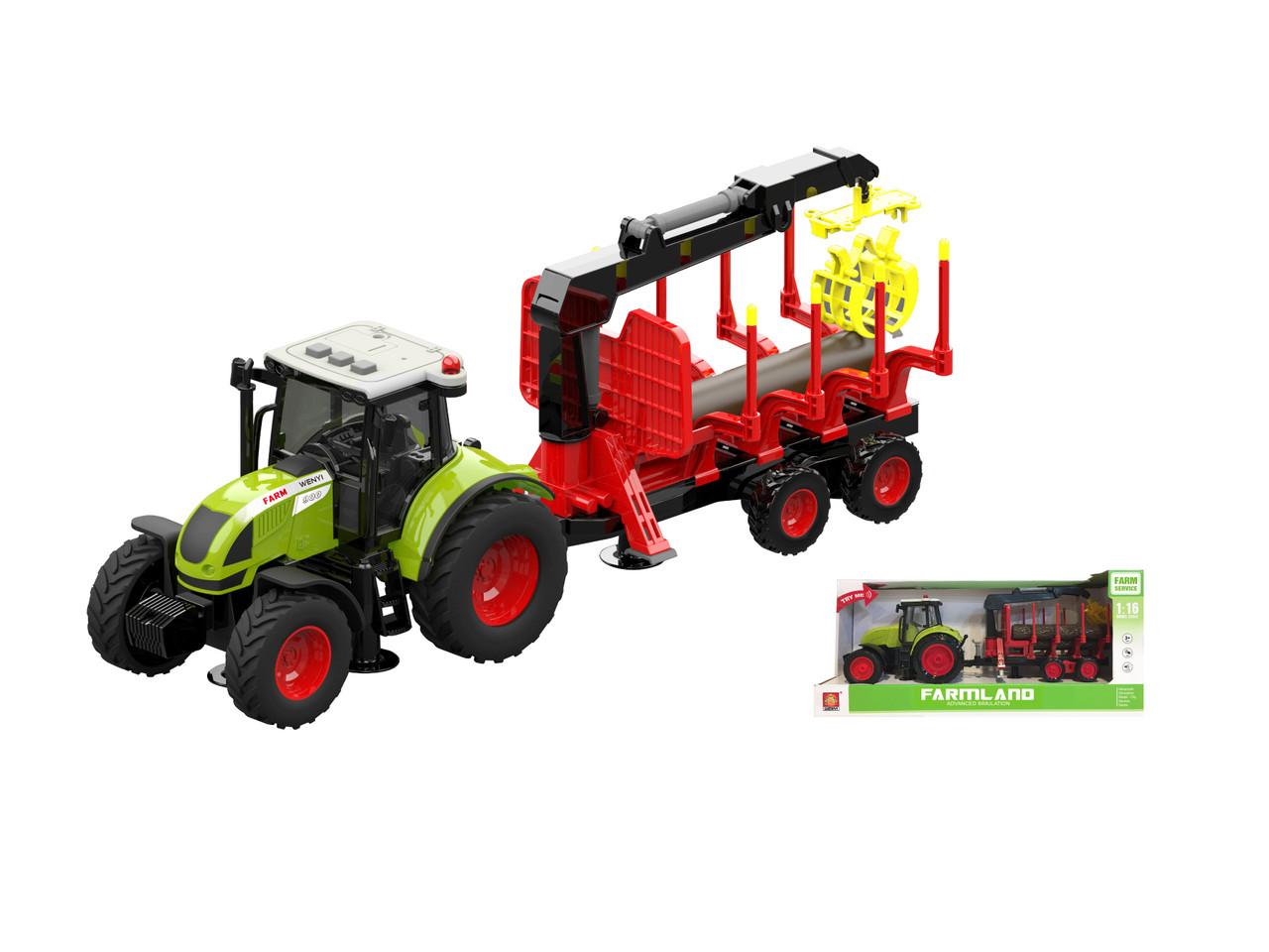 Фрикционный трактор, свет, звук